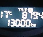 13,000km