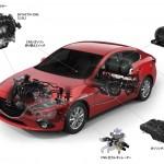 マツダが新エンジン「SKYACTIV-CNG」を世界初公開、ガソリンと天然ガスに対応