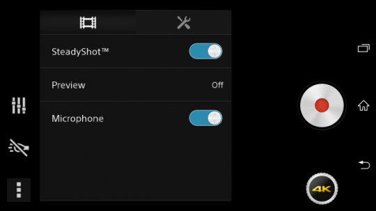 4K Video UI