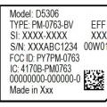 公開されたPM-0763-BVのラベル