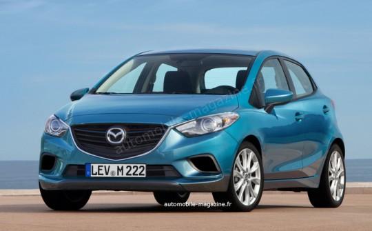 新型Mazda2の予想レンダリング