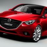 跳をアレンジした新型Mazda2(デミオ)の予想CGが公開されています