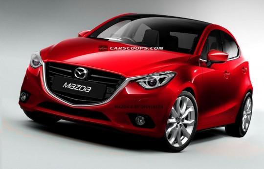 新型Mazda2予想CG