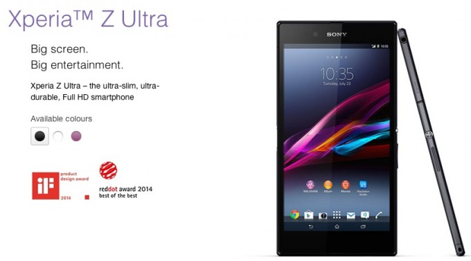 Xperia Z Ultraがレッド・ドット・デザイン賞 Best of the bestを受賞