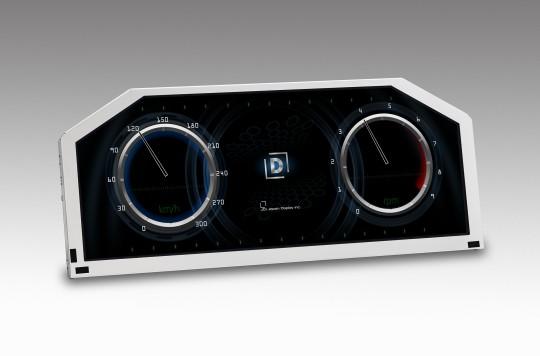 JDI製、車載向け12.3型 異形状 液晶モジュール