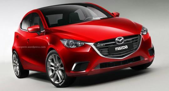 新型Mazda2の予想CG