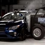 スバル新型WRXがIIHSの衝突試験でトップセーフティーピックの評価
