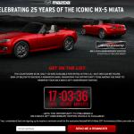 マツダMX-5 25周年記念車、アメリカでは10分でSOLD OUT!日本では何分で完売だ?