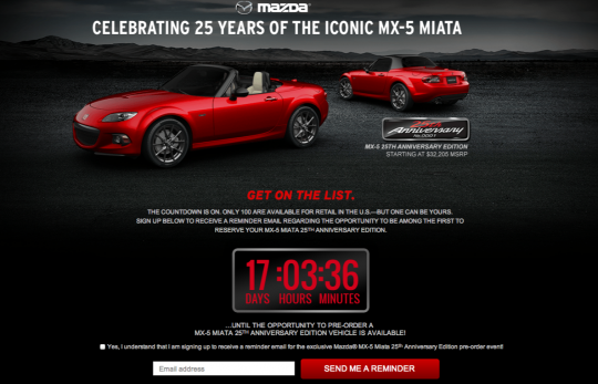 MX-5 25th Anniversary Edition