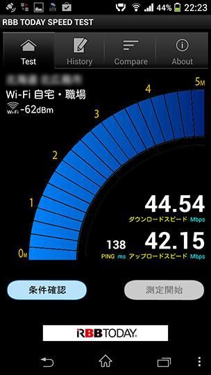 Xperia Z1(SOL23)、2.4GHz帯