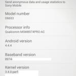 Xperia Z3(D6653)のスクリーンショットがリーク。フルHDディスプレイとSnapdragon 801搭載