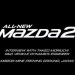 マツダオーストラリア公式の新型Mazda2テスト車両の動画