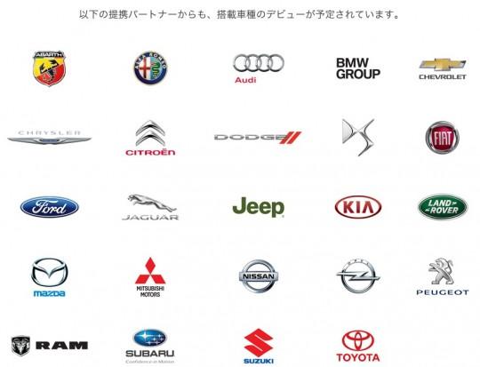 CarPlay参加企業の一部