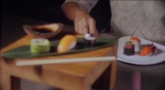 お寿司の色がもしかしたら?