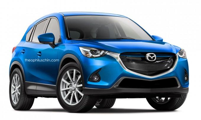 マツダ新型SUV CX-3の予想CG