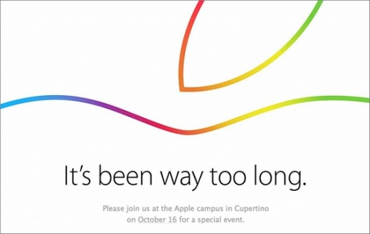 アップルのイベント告知