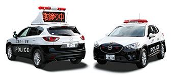広島県警高速隊に提供した「CX-5」のパトロールカー