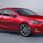 クーペの流麗な姿が美しい、新型Mazda2をクーペにした予想CGが公開されています