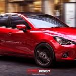 新型Mazda2セダンMPSモデルの予想CGが公開されていました