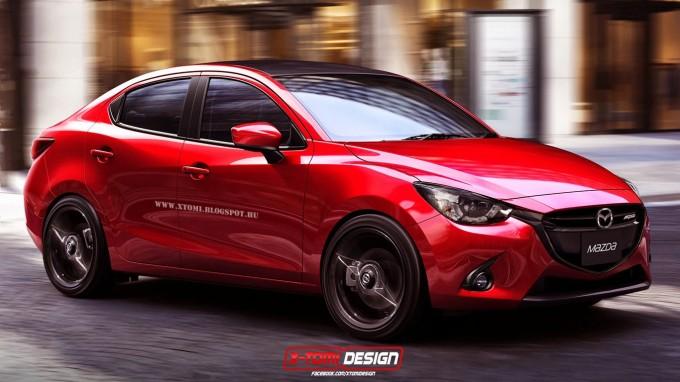 Mazda2セダンMPSモデルの予想CG