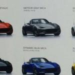 マツダ新型ロードスターのボディーカラーは全6色?