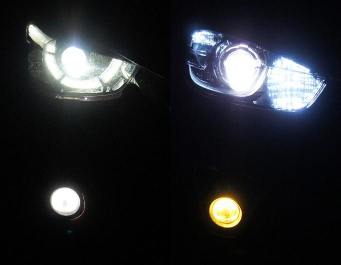 デミオとCX-5のヘッドライト