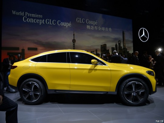 Mercedes-Concept-GLC-Coupe-side-in-Shanghai