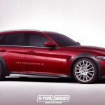 Audi A4 Allroadのライバルになり得る、アルファロメオ新型ジュリア・クロスワゴンの予想CG