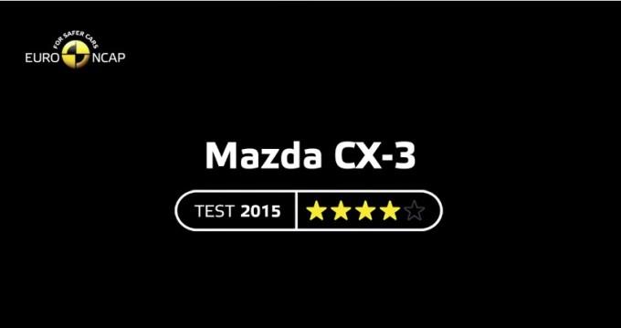 マツダCX-3ユーロNCAP4つ星