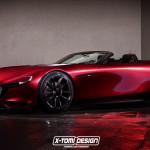 Mazda RX-VISION Roadsterの予想CGが公開されています