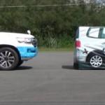 [動画]トヨタ新型ランドクルーザーの衝突被害軽減ブレーキ試験(Toyota Safety Sense P)