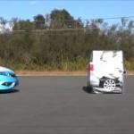 [動画]Honda SENSING初登場、ホンダ ジェイドの衝突被害軽減ブレーキ試験