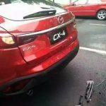 マツダ新型CX-4、発売前なのに追突事故に遭う