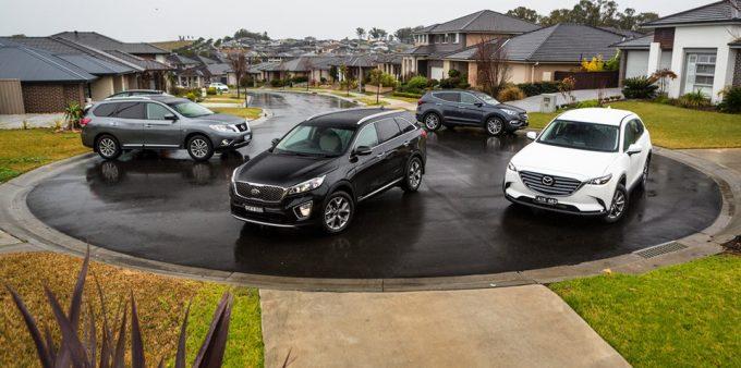 2016-Comparison-Nissan-Pathfinder-ST-L-AWD-v-Hyundai-Santa-Fe-Highlander-diesel-AWD-v-Mazda-CX-9-Touring-AWD-v-Kia-Sorento-Platinum-diesel-AWD-186c