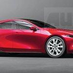 次期アクセラ(Mazda3)の予想CG(3)