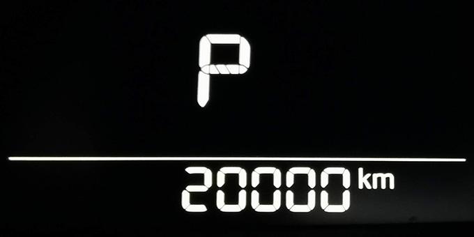 マツダ アクセラ 22XDでドライブ 20000km到達