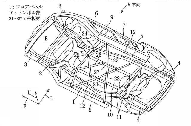 特許6497556 車体補強構造