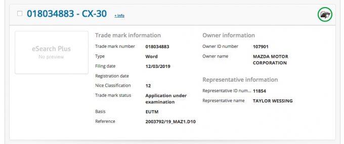 マツダ、EU域内で「CX-30」を商標登録