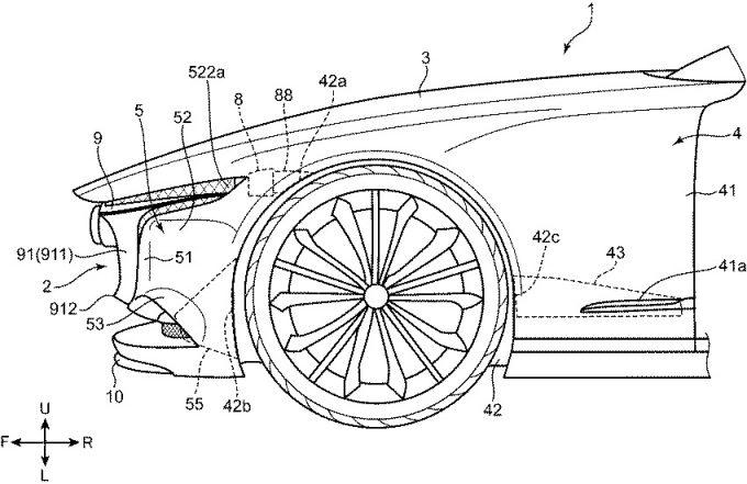 マツダ、VISION COPUEのヘッドランプ構造の特許を取得