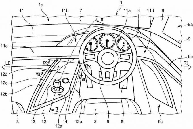 特許6497424 車両の車室内構造 width=