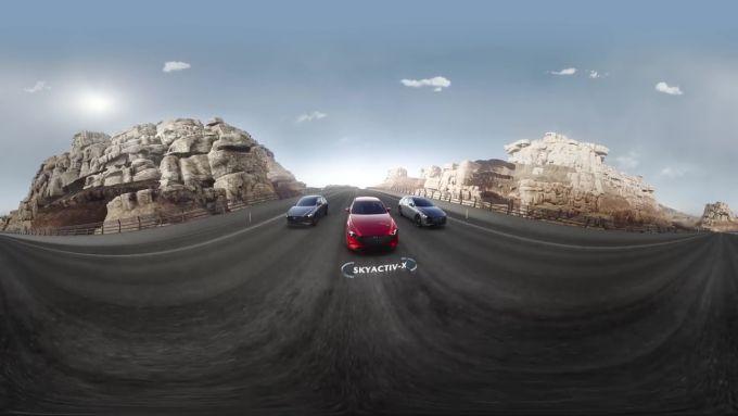 マツダ、新型Mazda3とSKY-Xを紹介する360°動画を公開