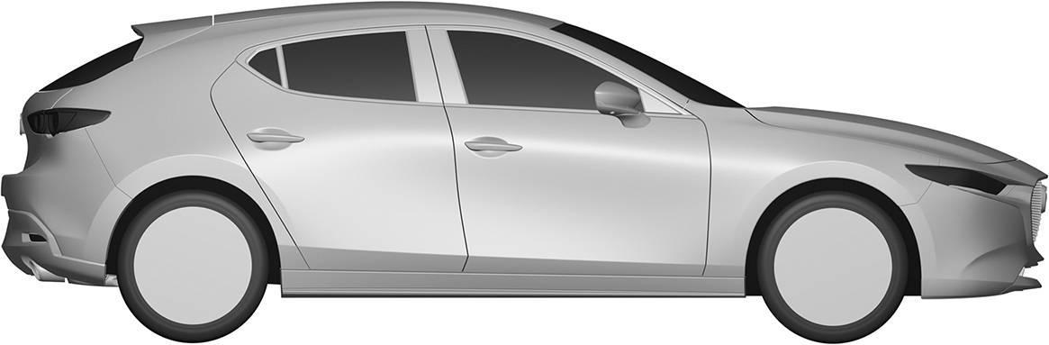 [意匠登録]新型Mazda3 FASTBACKのエクステリアデザイン