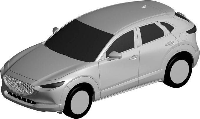 [意匠登録]マツダ、CX-30のエクステリアと断面形状を登録