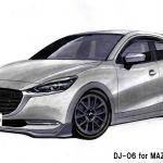 オートエクゼ、新型Mazda2用チューニングキット「DJ-06」を開発中