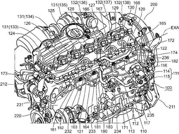 マツダ、直6エンジンの燃料供給装置に関する特許を出願