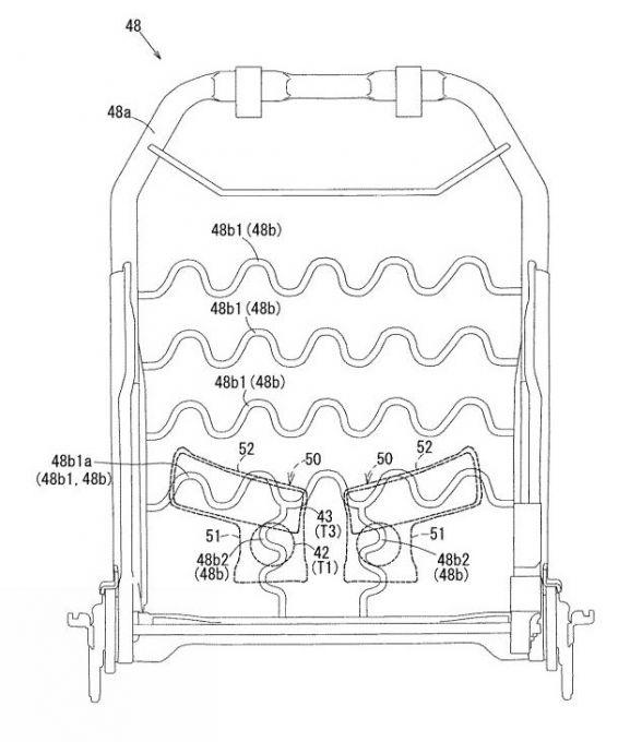 マツダ、姿勢維持機能を向上させたシートバックの特許出願