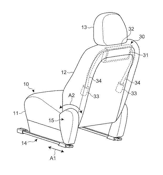 [特許]マツダ、新たな後席用エアバッグの特許を出願