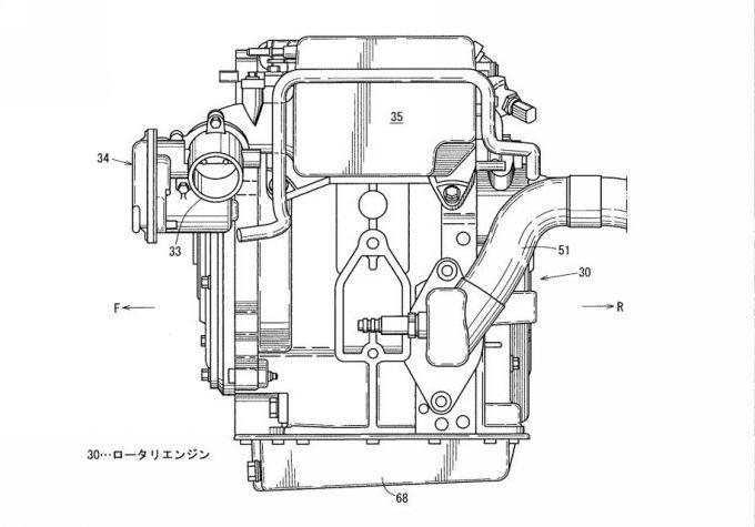 マツダ、発電用ENG搭載EVのレイアウトに関した特許を取得