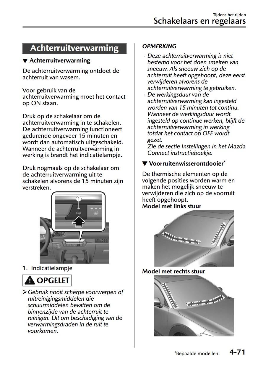 オランダマツダ、CX-30の取扱説明書を公開