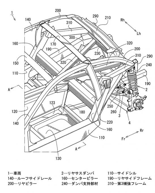 マツダのスポーツカーと出願特許